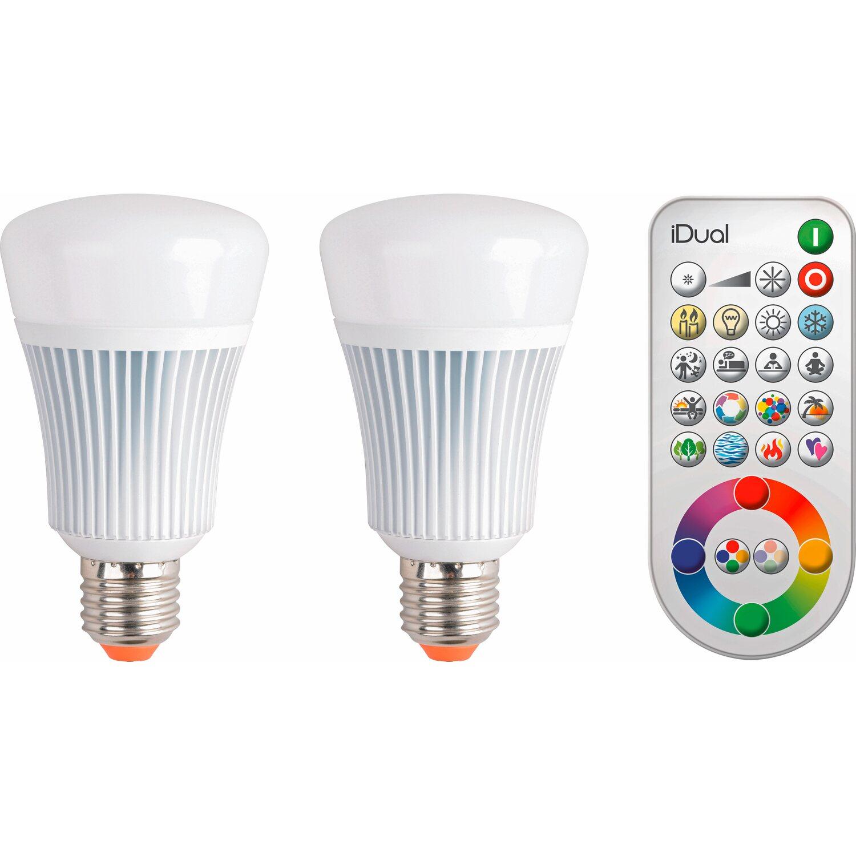 iDual LED Leuchtmittel E27 11 W 2er Pack EEK: A+