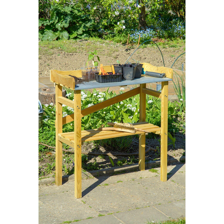 robuster pflanztisch aus impr gniertem kiefernholz kaufen bei obi. Black Bedroom Furniture Sets. Home Design Ideas