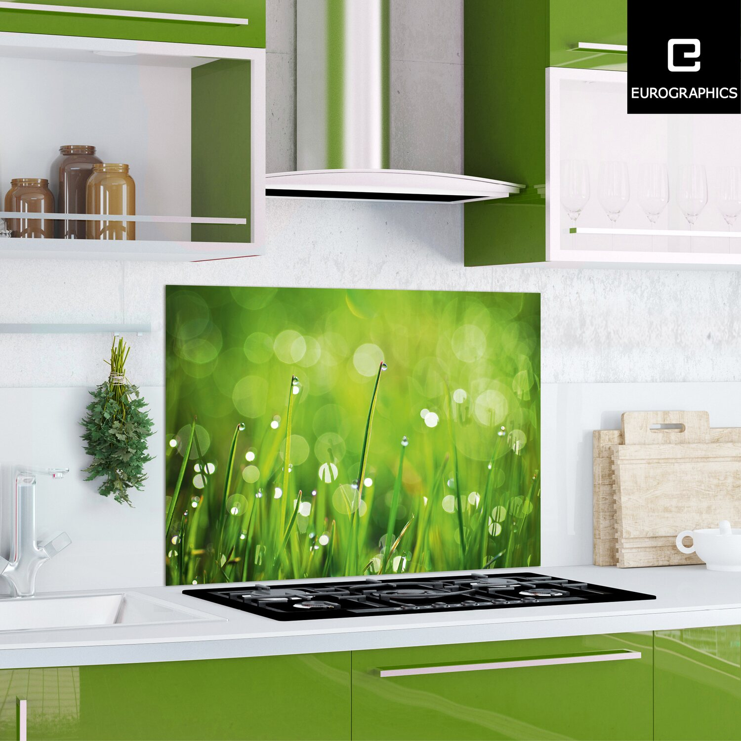 kitchen glas spritzschutz green morning ii 65cm x 90 cm kaufen bei obi. Black Bedroom Furniture Sets. Home Design Ideas