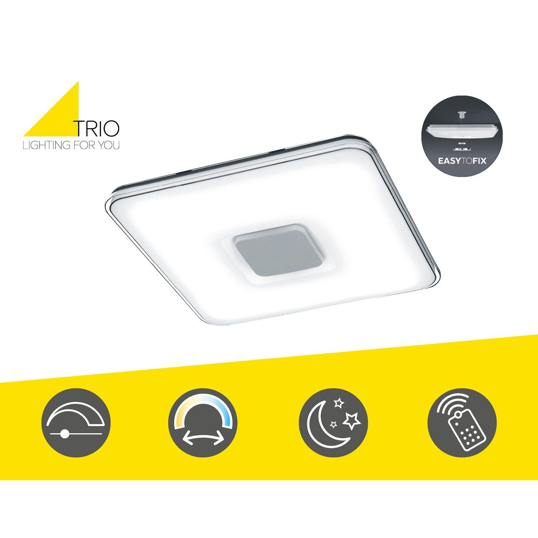 Trio LED-Deckenleuchte mit Fernbedienung EEK: A