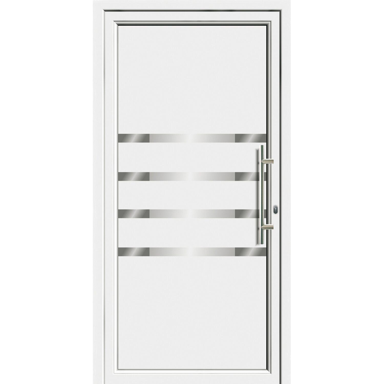 Sonstige Aluminium-Haustür 110 cm x 210 EF 55310 cm Weiß Anschlag Rechts