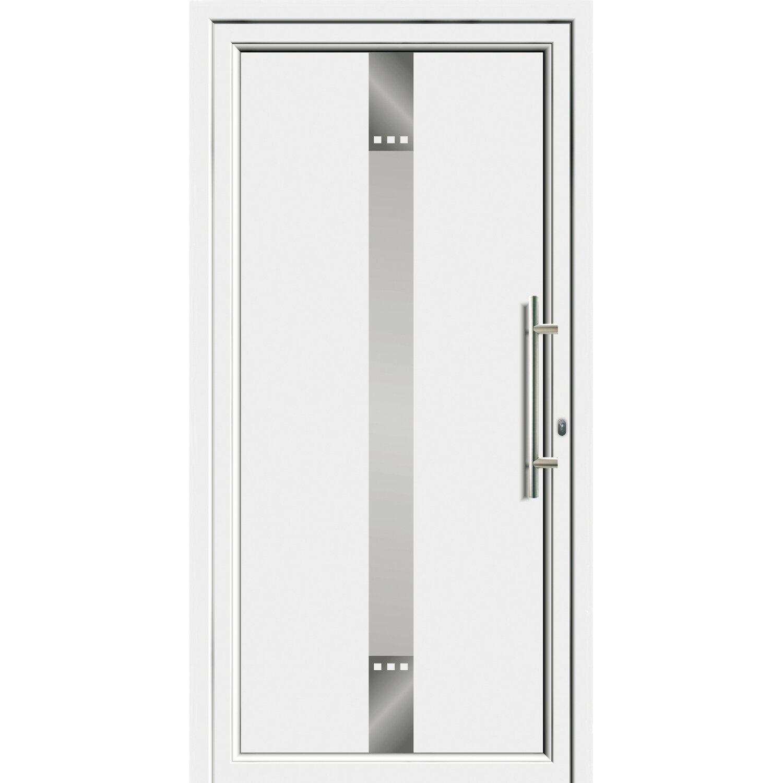 Sonstige Aluminium-Haustür 110 cm x 210 EF 55309 cm Weiß Anschlag Rechts