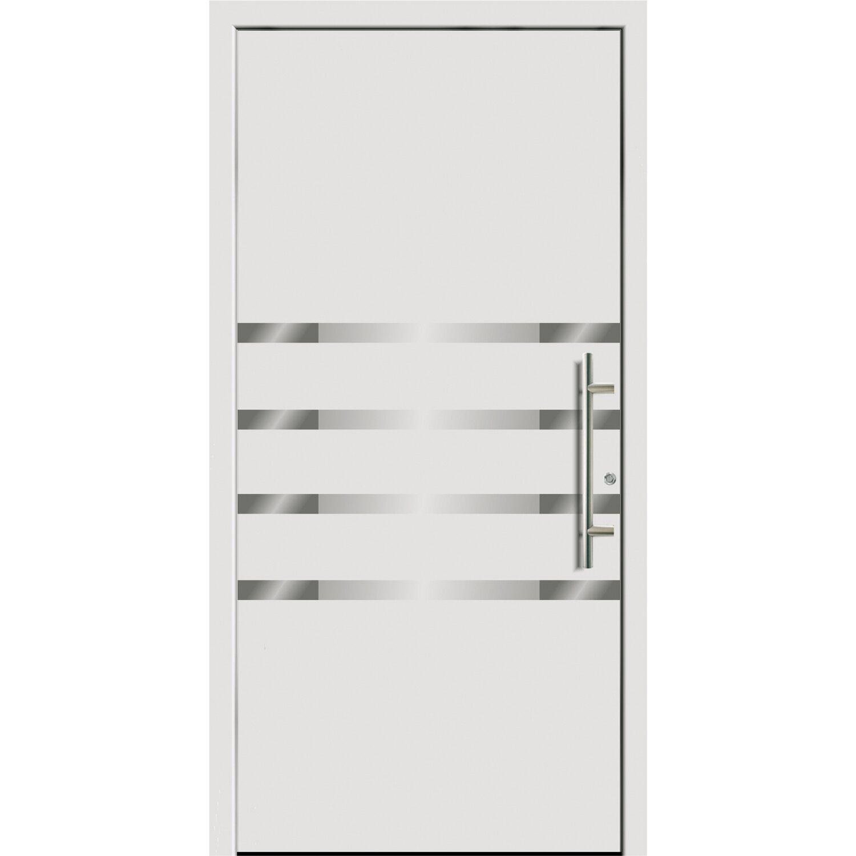 Sonstige Aluminium-Haustür 110 cm x 210 FÜ 55210 cm Weiß Anschlag Rechts