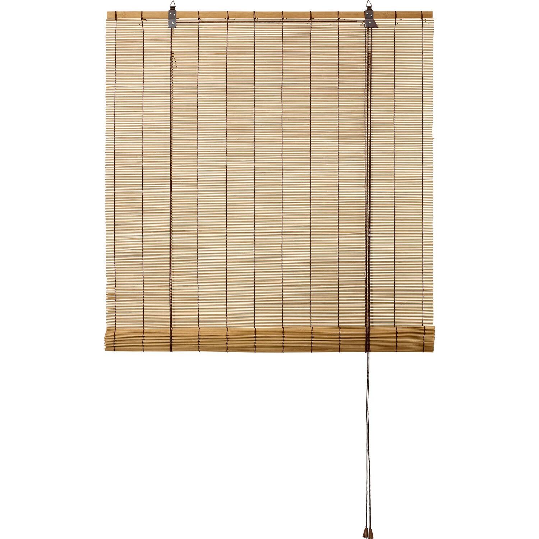 obi bambus raffrollo 140 cm x 160 cm eiche kaufen bei obi. Black Bedroom Furniture Sets. Home Design Ideas