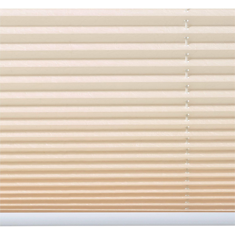 obi verspanntes plissee milena 45 cm x 130 cm beige kaufen bei obi. Black Bedroom Furniture Sets. Home Design Ideas