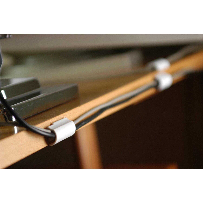 Innovativ Tesa Powerstrips Kabel Clip Weiß 5 Stück mit 6 x Pwerstrips Small  IZ42