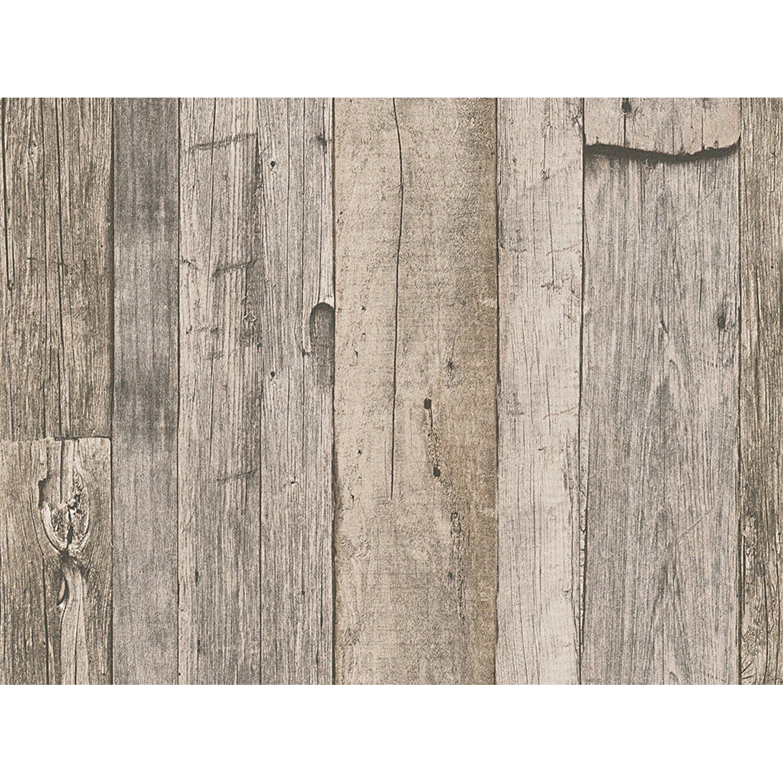 AS Creation A.S. Creation Vliestapete Dekora Natur Holz Dunkelgrau
