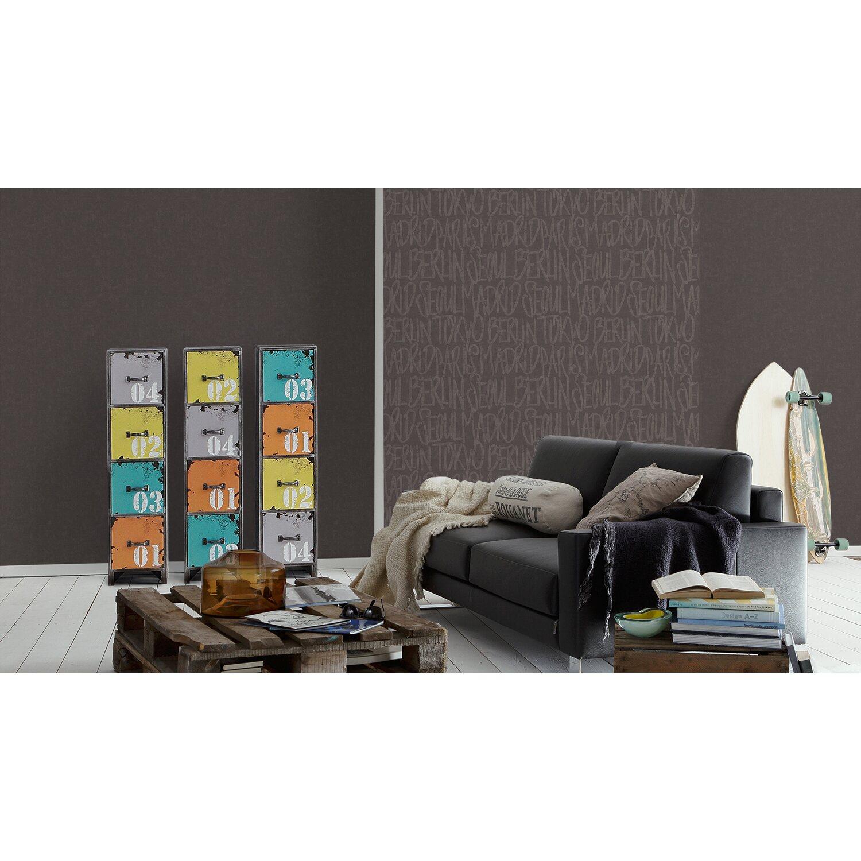 sch ner wohnen 7 vliestapete schriften braun kaufen bei obi. Black Bedroom Furniture Sets. Home Design Ideas