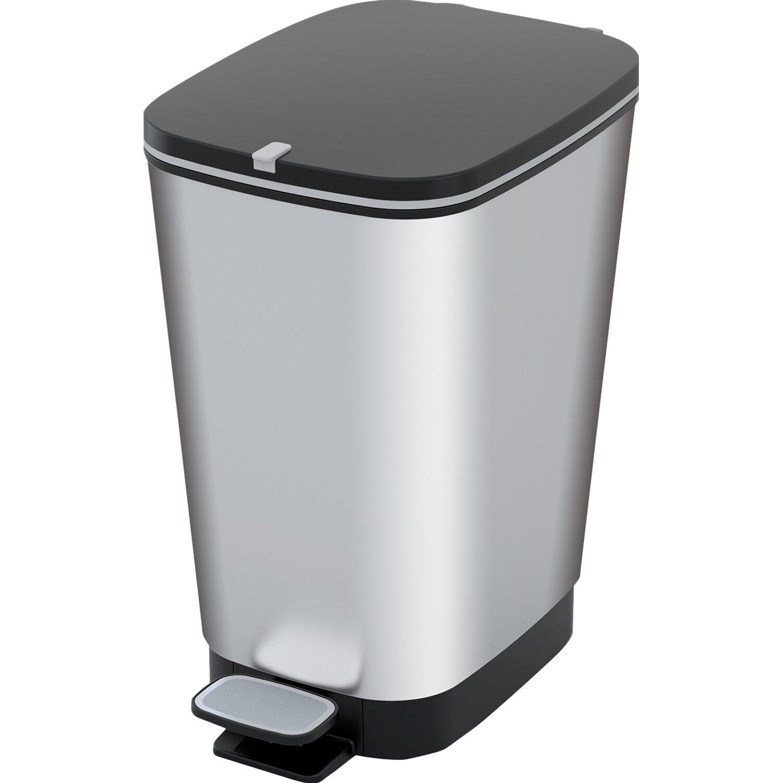 Tret-Mülleimer 22 l Silber