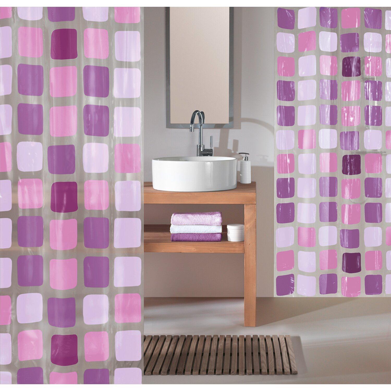 obi duschvorhang mary 180 cm x 200 cm violett kaufen bei obi. Black Bedroom Furniture Sets. Home Design Ideas