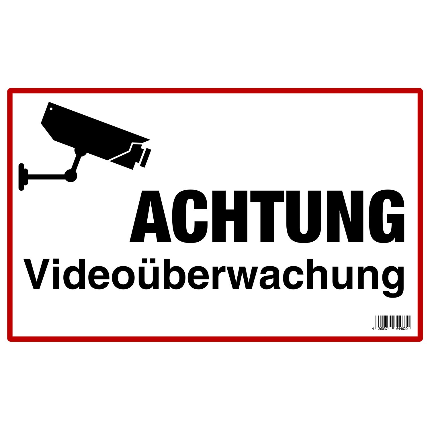 schild achtung video berwachung 25 cm x 40 cm kaufen bei obi. Black Bedroom Furniture Sets. Home Design Ideas