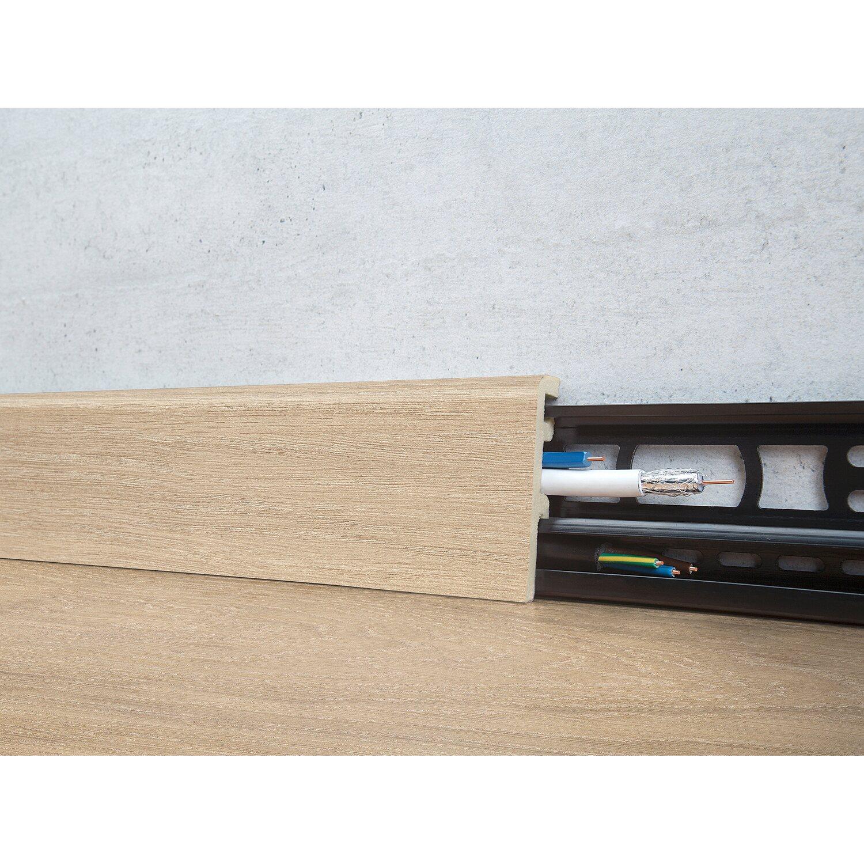 Floorever Spa Sockelleiste  Sandstorm mit Schiene 21 x 60 mm Länge 2400 mm