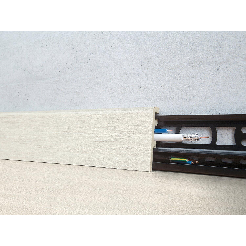 Floorever Spa Sockelleiste  Pearly Gates mit Schiene 21 x 60 mm Länge 2400 mm