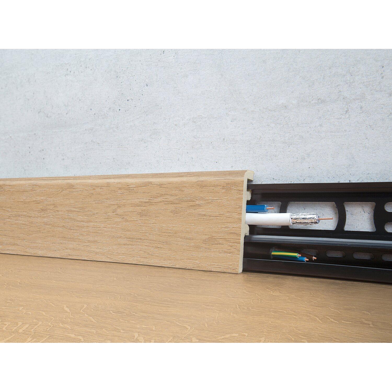 Floorever Spa Sockelleiste  Long Beach mit Schiene 21 x 60 mm Länge 2400 mm