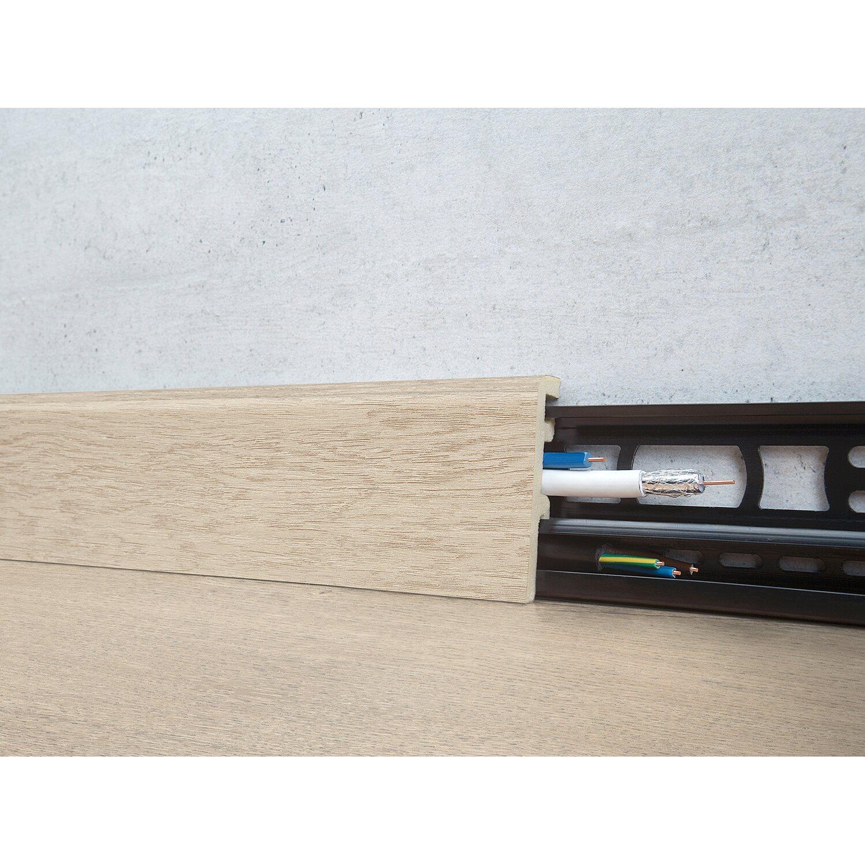 Floorever Spa Sockelleiste  True Grit mit Schiene 21 x 60 mm Länge 2400 mm