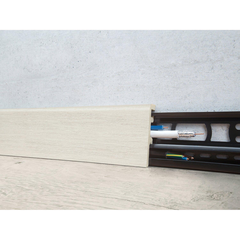 Floorever Spa Sockelleiste  Pennsylvania mit Schiene 21 x 60 mm Länge 2400 mm