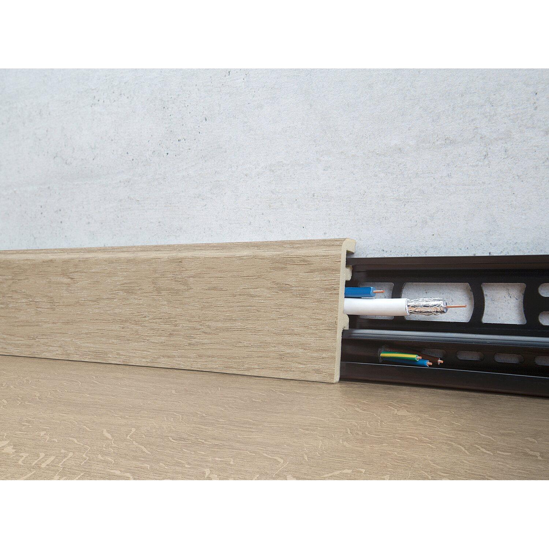 Floorever Spa Sockelleiste  Anchorage mit Schiene 21 x 60 mm Länge 2400 mm