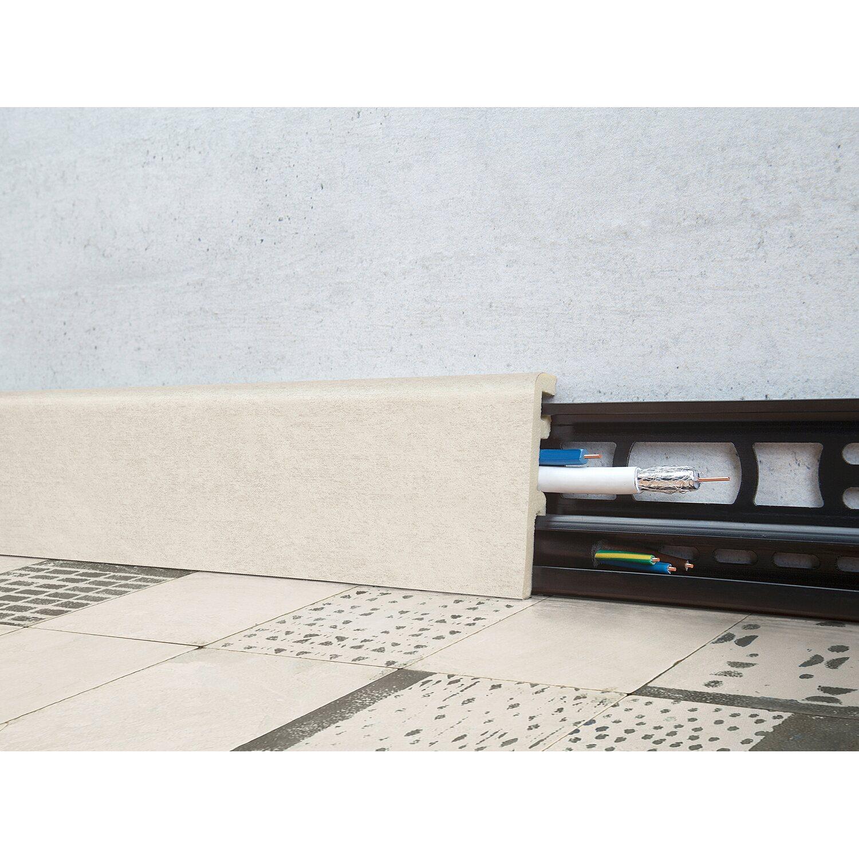 Floorever Spa Sockelleiste  Victoriana mit Schiene 21 x 60 mm Länge 2400 mm