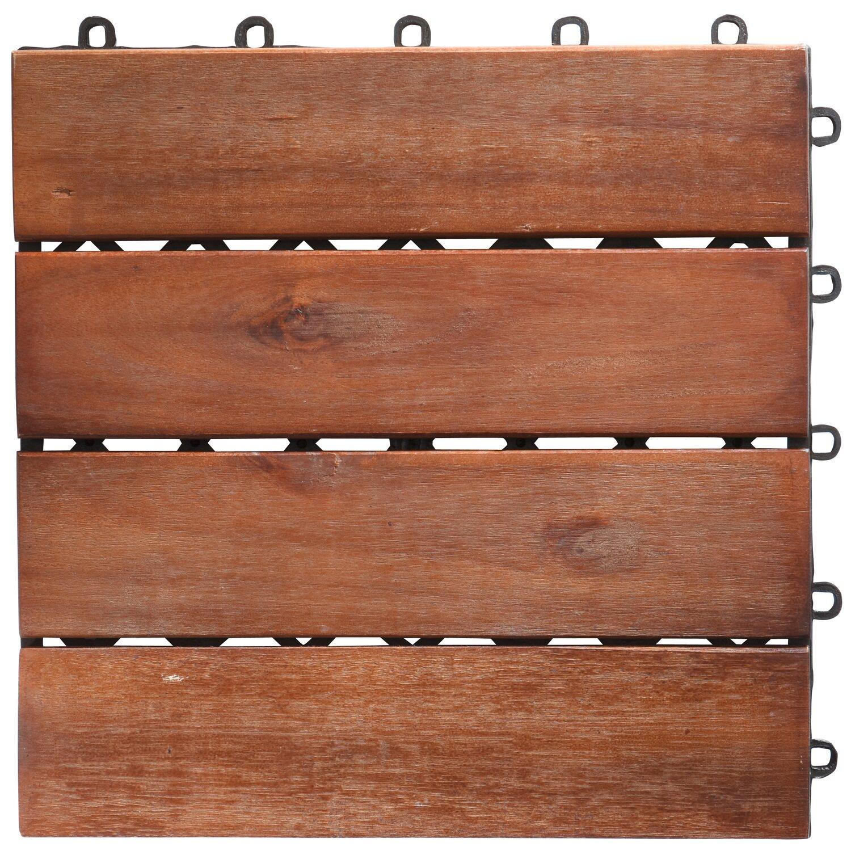 klick fliese holz akazie 30 x 30 cm 6 st ck kaufen bei obi. Black Bedroom Furniture Sets. Home Design Ideas