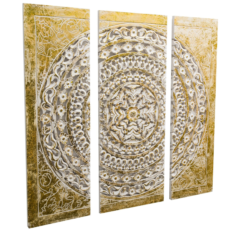 Best of home wand objekt ornamentik gold 3 teilig kaufen bei obi - Orientalische wanddeko ...