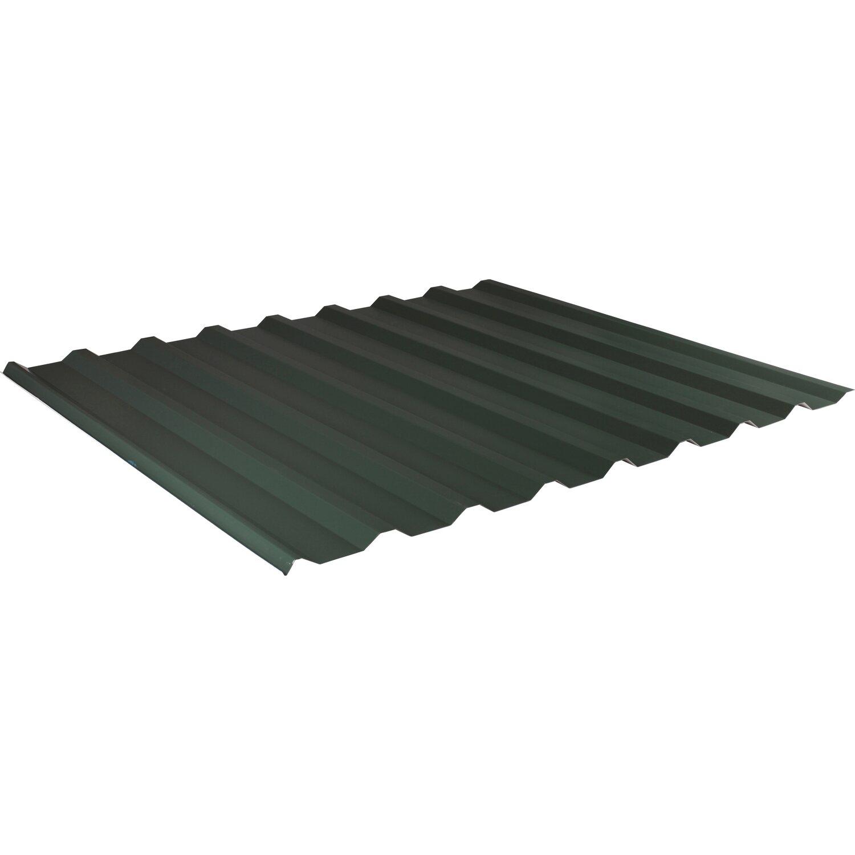 trapezblech 138 20 2000 mm x 1100 mm st rke 0 50 mm gr n. Black Bedroom Furniture Sets. Home Design Ideas