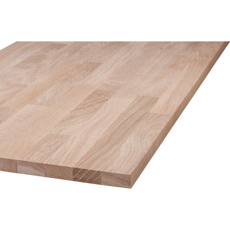 Massivholzplatte Eiche 80 Cm X 20 Cm X 1 8 Cm Kaufen Bei Obi