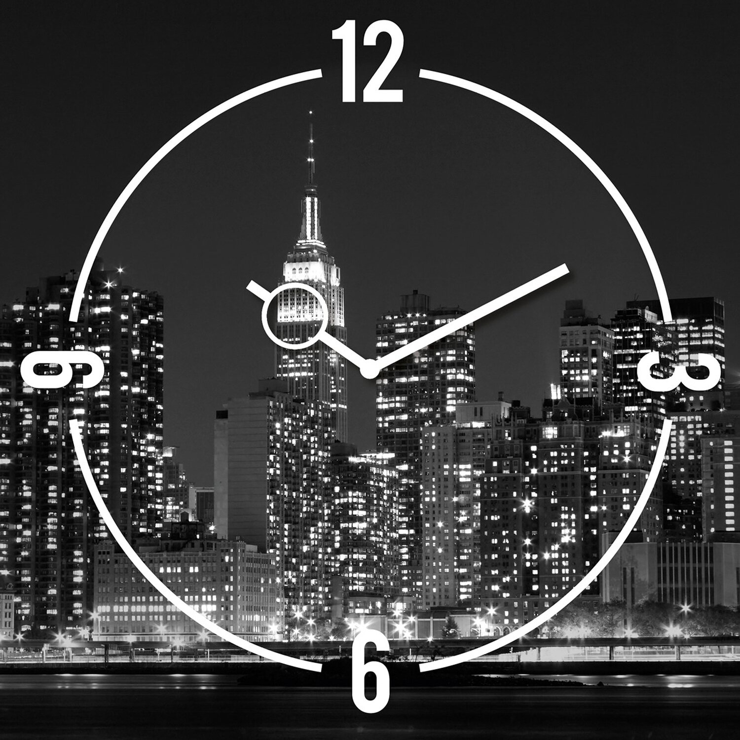 eurographics wanduhr time art new york clock 30 cm x 30 cm kaufen bei obi. Black Bedroom Furniture Sets. Home Design Ideas