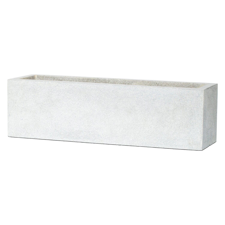 Capi blumenkasten grande i rechteckig 73 cm hellgrau for Planschbecken rechteckig obi