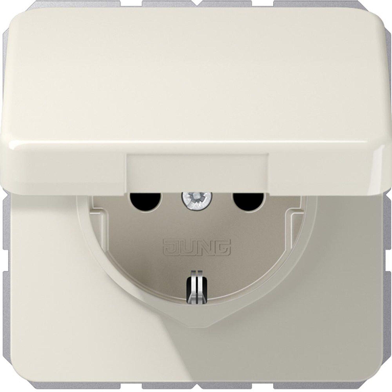 Jung Steckdose mit Klappdeckel und Kindersicherung CD500 Weiß | Kinderzimmer > Textilien für Kinder > Kinderbettwäsche | Jung