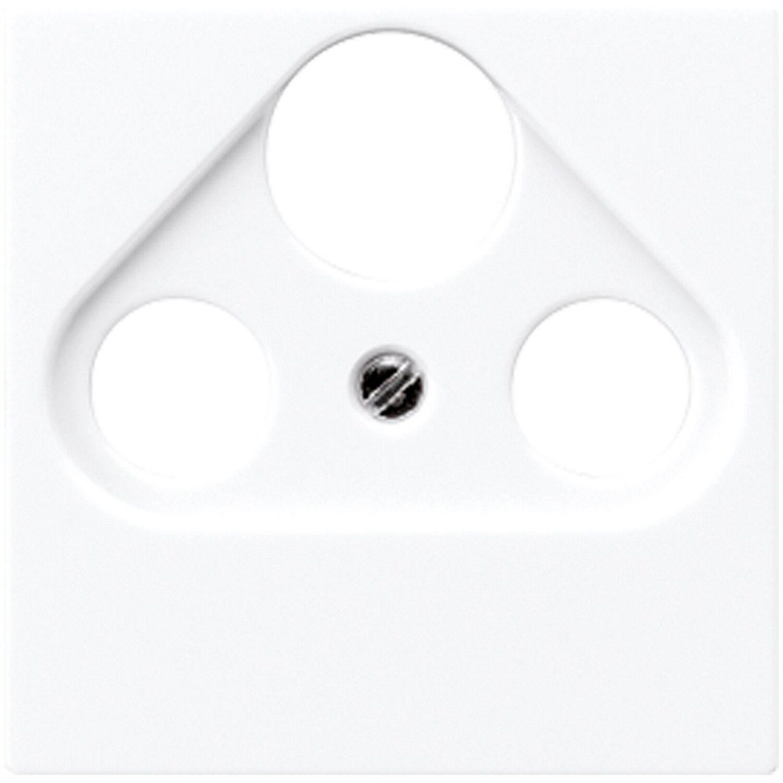Jung Antennenabdeckung 3-Loch AS500 Weiß