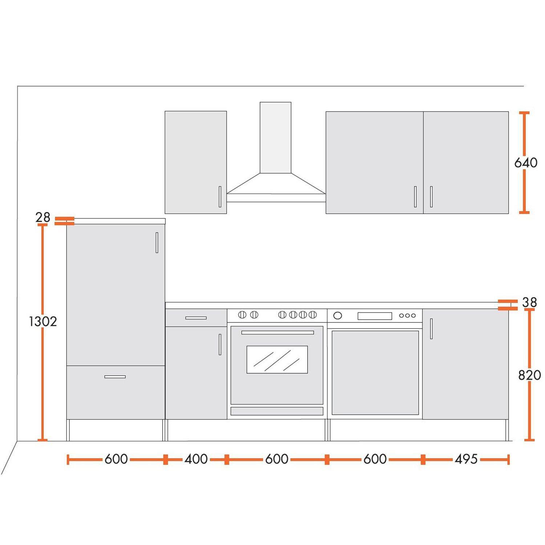 Menke Küchenzeile Premium 270 Cm ...