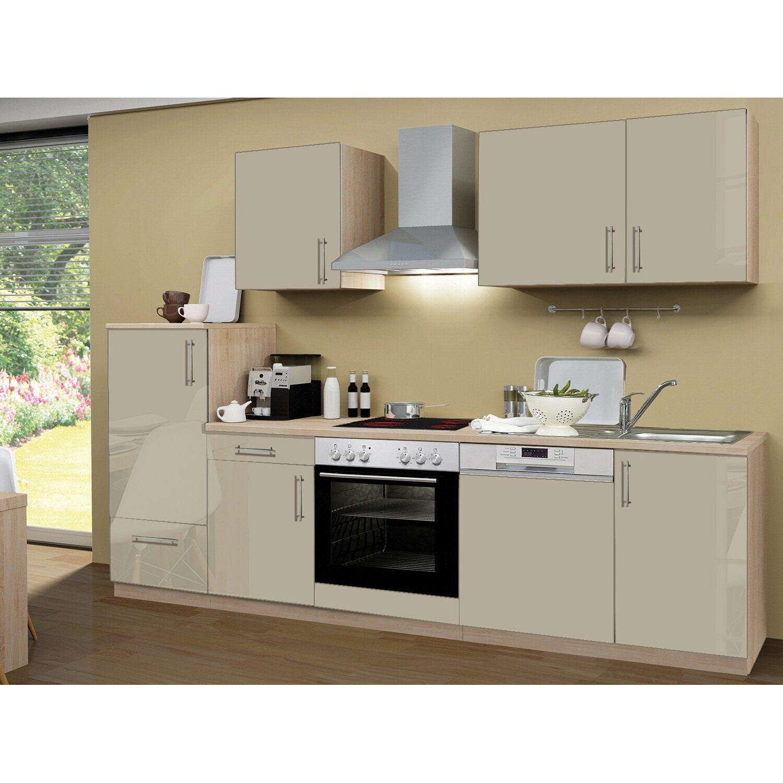 menke k chenzeile premium 280 cm sahara hochglanz sonoma eiche nachbildung kaufen bei obi. Black Bedroom Furniture Sets. Home Design Ideas