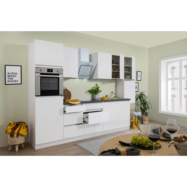 respekta k chenzeile glrp320hwwm grifflos 320 cm wei matt kaufen bei obi. Black Bedroom Furniture Sets. Home Design Ideas