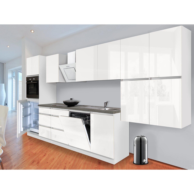 Küchenzeile kaufen  Respekta Küchenzeile GLRP380HWW Grifflos 380 cm Weiß Hochglanz ...