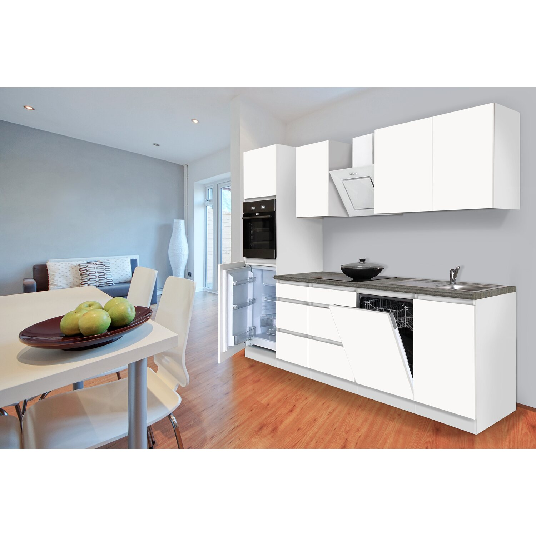 respekta k chenzeile ohne e ger te 280 cm wei matt kaufen. Black Bedroom Furniture Sets. Home Design Ideas