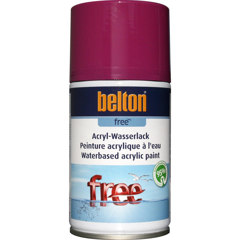 belton Belton Free Acryl-Wasserlack Verkehrspurpur hochglänzend 250 ml