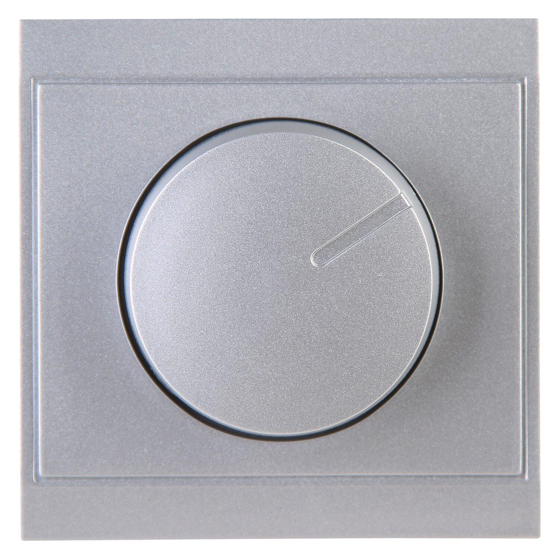 Kopp Dimmerabdeckung Druck/Wechsel Malta Silber