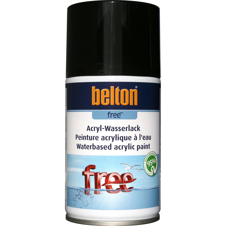 belton Belton Free Acryl-Wasserlack Tiefschwarz hochglänzend 250 ml