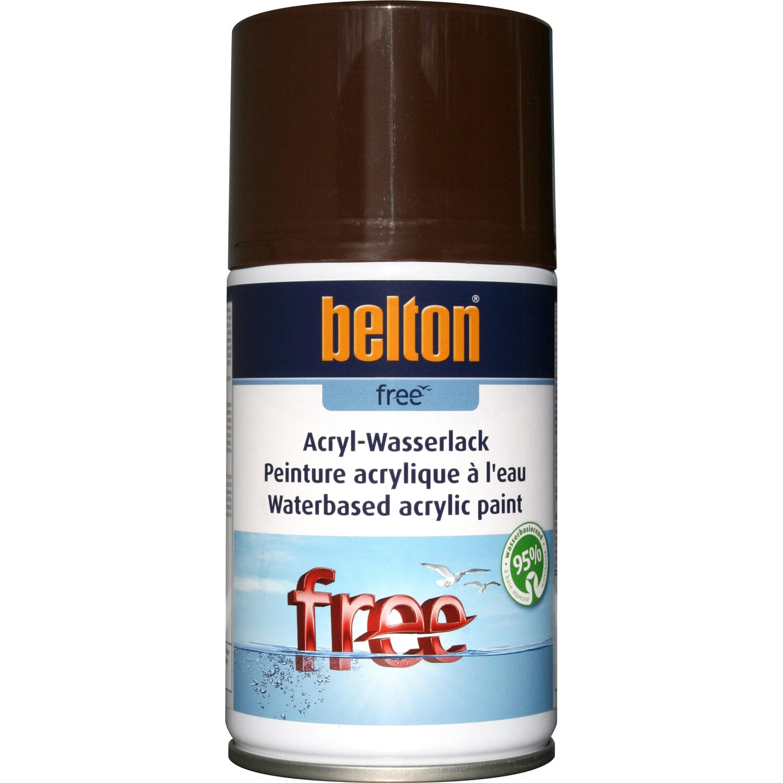 belton Belton Free Acryl-Wasserlack Schokobraun hochglänzend 250 ml
