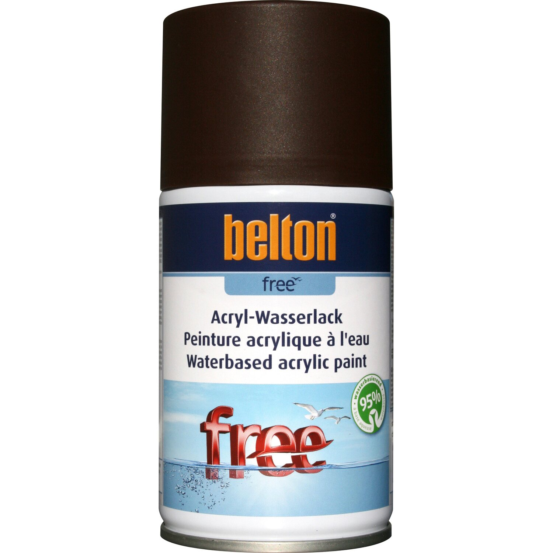 belton Belton Free Acryl-Wasserlack Schokobraun matt 250 ml
