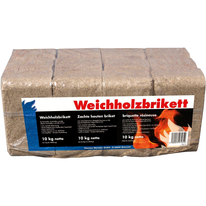 Holzbriketts in Folie 10 kg