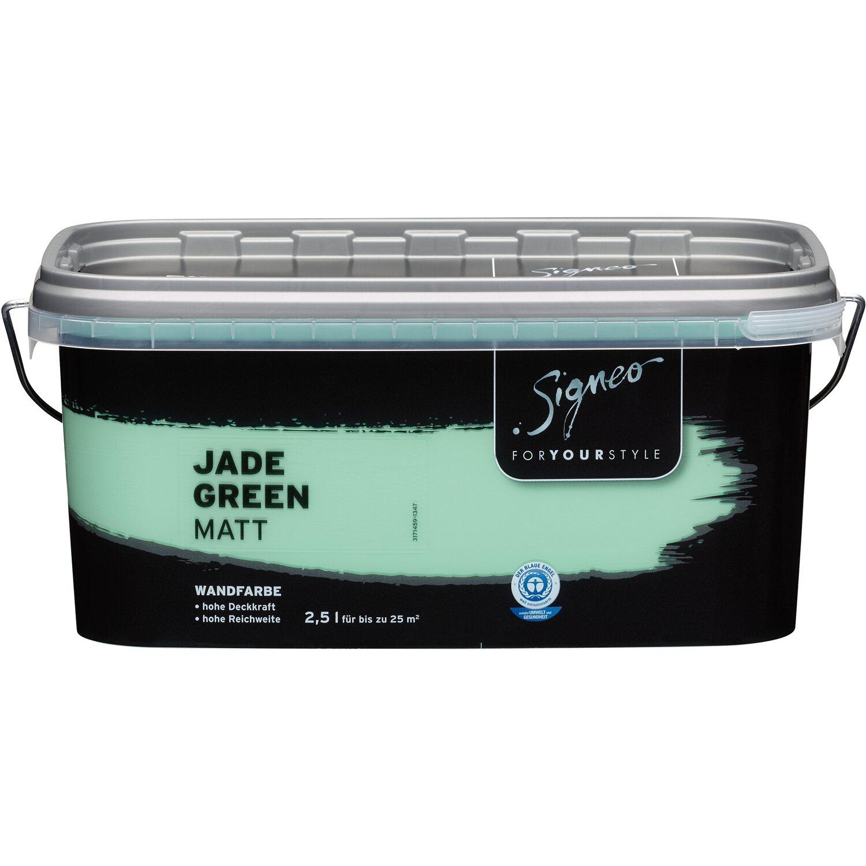 Farbpalette Wandfarben Braun Obi Gasflasche: Signeo Bunte Wandfarbe Matt Jade Green 2,5 L Kaufen Bei OBI
