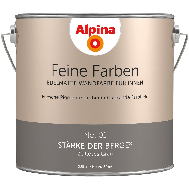 Alpina Feine Farben No 1 Zeitloses Grau Edelmatt 2 5 L Kaufen Bei Obi