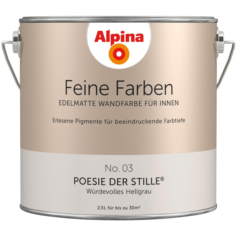 Alpina Feine Farben No. 3 Würdevolles Hellgrau Edelmatt 2