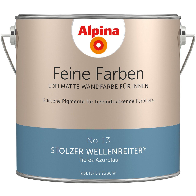 Wandfarbe Helles Blaugrau: Alpina Feine Farben No. 13: Stolzer Wellenreiter Edelmatt