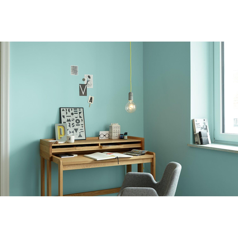 Azurblau Wandfarbe: Alpina Feine Farben No. 15 Pures Wasserblau Edelmatt 2,5 L