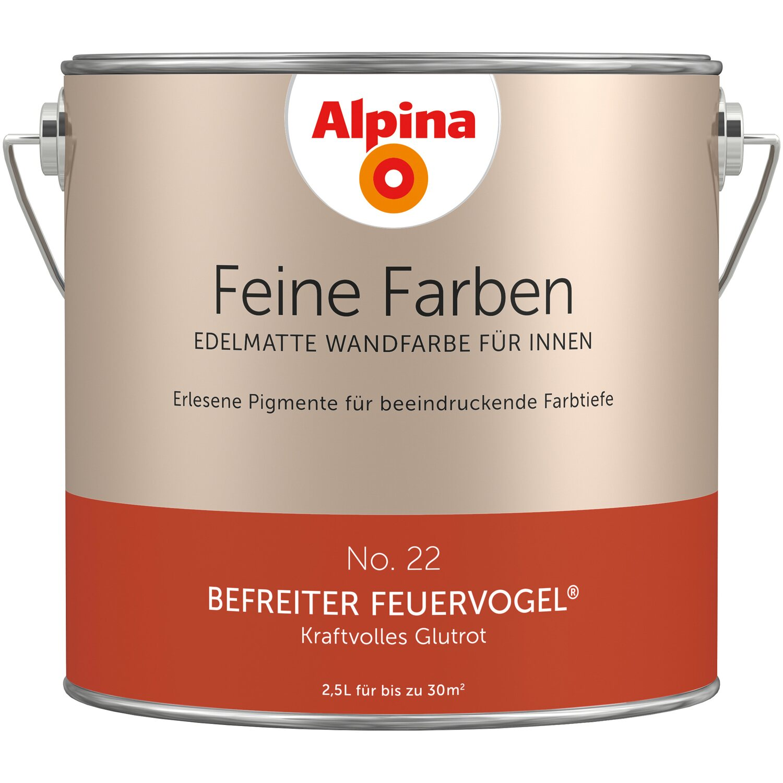 Wandfarbe Helles Blaugrau: Alpina Feine Farben No. 22 Befreiter Feuervogel Edelmatt 2