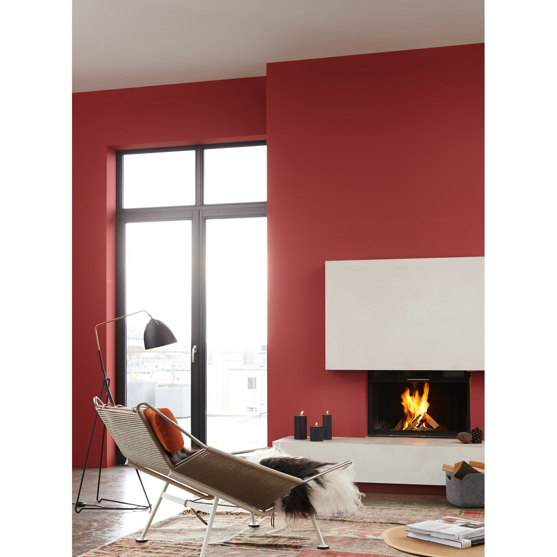 Azurblau Wandfarbe: Alpina Feine Farben No. 22 Kraftvolles Glutrot Edelmatt 2