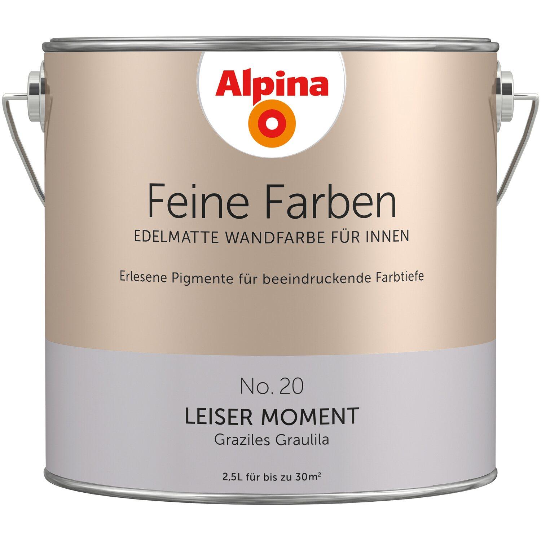 Wandfarbe Helles Blaugrau: Alpina Feine Farben No. 20 Leiser Moment Edelmatt 2,5 L