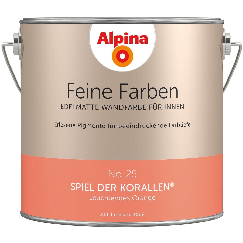 alpina feine farben no 25 leuchtendes orange edelmatt 2 5. Black Bedroom Furniture Sets. Home Design Ideas